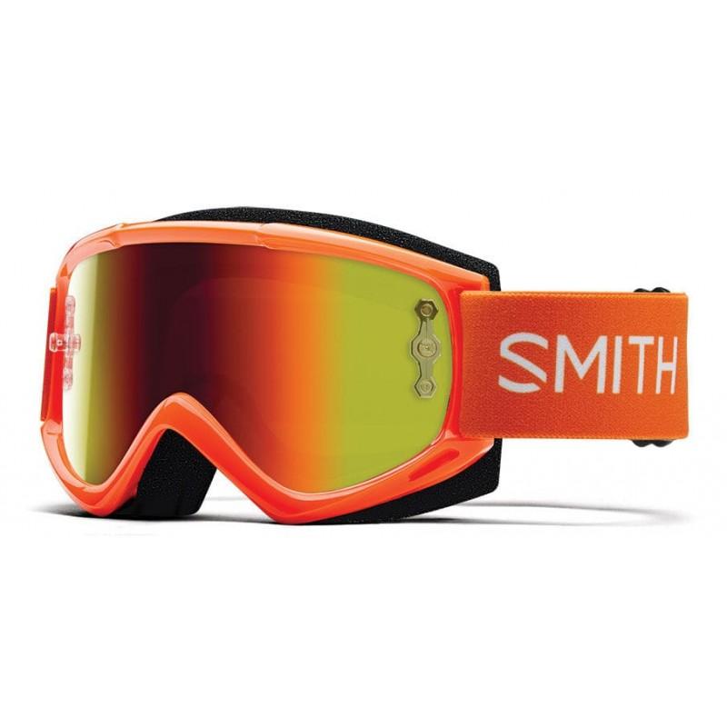 Gafas SMITH FUEL V1 MAX M Naranja Fluor Cristal Iridio Rojo
