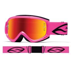 Gafas SMITH FUEL V1 MAX M Pink Fluor Cristal Iridio Rojo