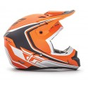 Casco Fly Kinetic Full Speed Matte Orange Black