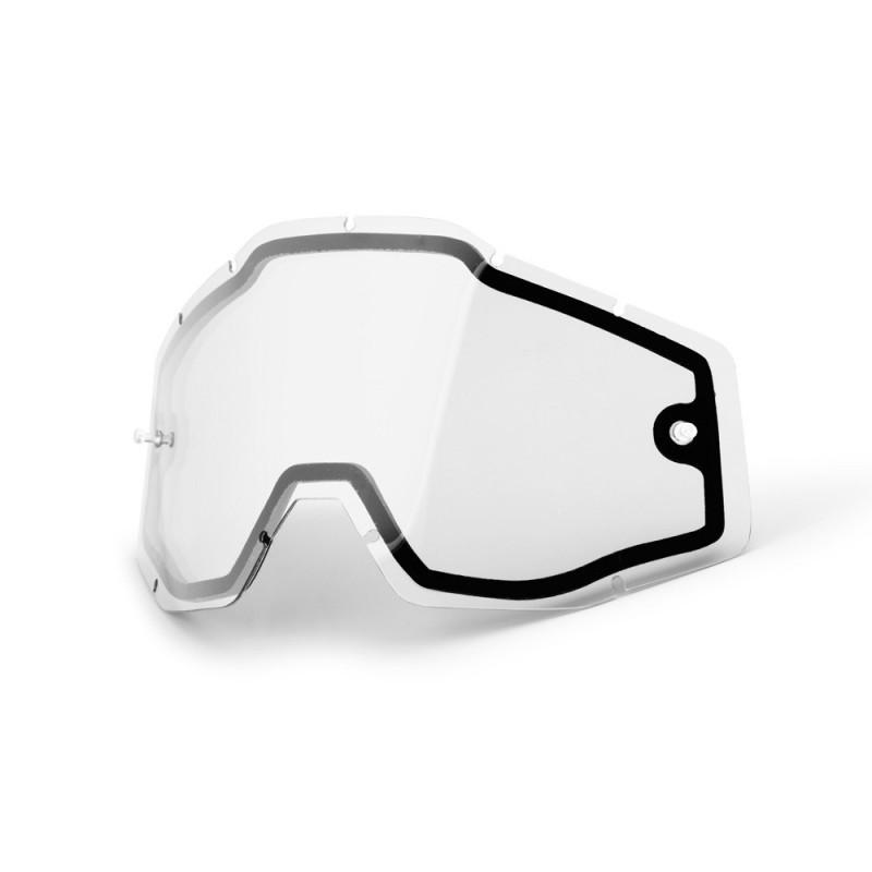 Cristal de recambio doble no ventilado transparente 100%