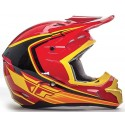 Casco Fly Kinetic Full Speed Red Black Yellow