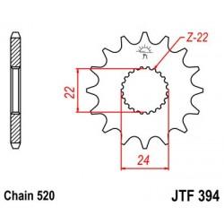 Piñon JT 394 de acero con 14 dientes  APRILIA Pegaso 125 (89-99)