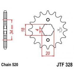 Piñon JT 328 de acero con 13 dientes  HONDA XL 200 (81-83)