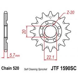 Piñon JT 1590SC autolimpiable de acero con 13 dientes  YAMAHA YZ 125 (05-12)