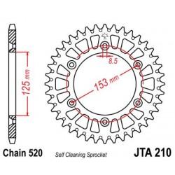 Corona JT 210 aluminio 40 dientes HONDA CR RH 250 (87)