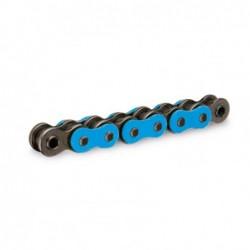 Cadena RK FB520XSO con 118 eslabones azul fluor