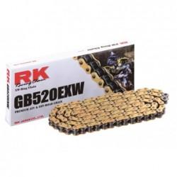 Cadena RK GB520EXW con 120 eslabones oro