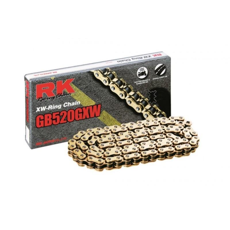 Cadena RK GB520GXW con 120 eslabones oro