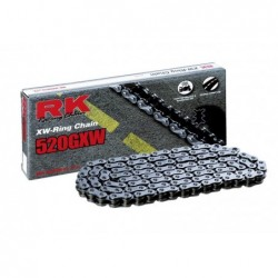 Cadena RK 520GXW con 118 eslabones negro