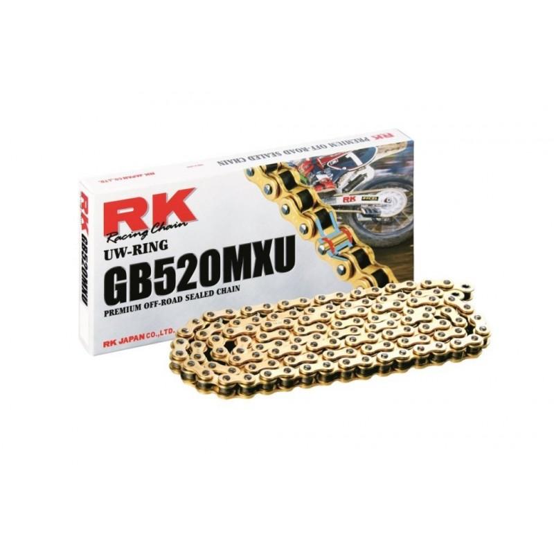 Cadena RK 520MXU con 118 eslabones oro