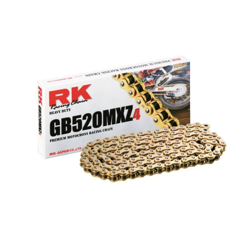 Cadena RK GB520MXZ4 con 120 eslabones oro